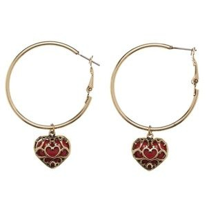The Legend of Zelda Hoop Earrings Heart Container